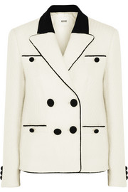 Moschino Cheap and Chic Double-breasted wool-tweed blazer