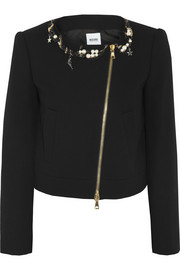 Moschino Cheap and Chic Embellished wool-crepe jacket