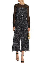 Moschino Cheap and Chic Cropped printed silk crepe de chine jumpsuit