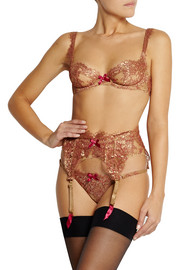 Agent Provocateur Soirée Zaharah metallic lace underwired bra