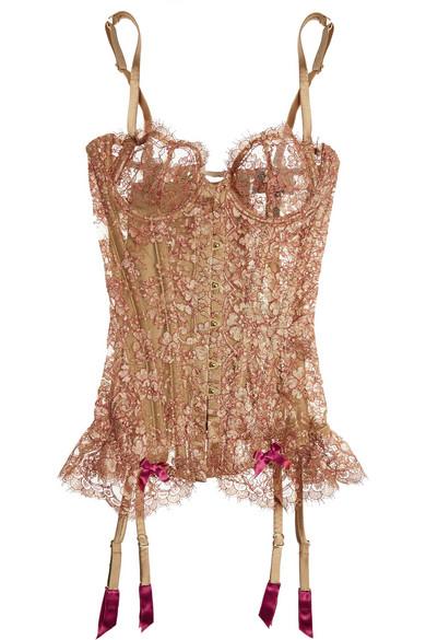 great fit exquisite design retail prices Zaharah metallic lace corset