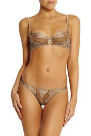 Agent Provocateur Soirée Zarrinia metallic beaded lace thong