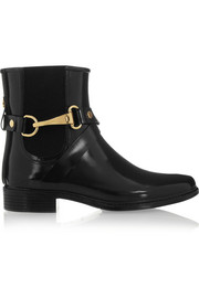 Burberry Shoes & Accessories Glossed-rubber rain boots