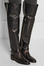 Burberry Shoes & Accessories Leather over-the-knee boots