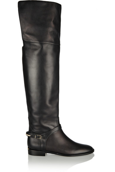 0986c0ff5b5 Burberry. Leather over-the-knee boots
