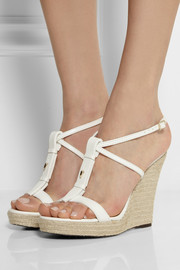 Burberry Shoes & Accessories Leather wedge espadrilles