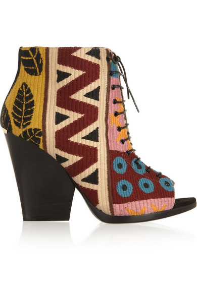 Sale alerts for Burberry Prorsum Wool-blend tapestry boots - Covvet