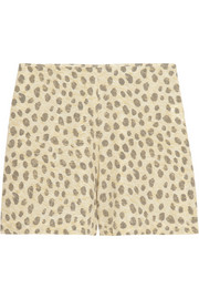 Equipment Lewis leopard-print washed-silk shorts