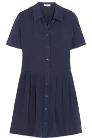 Equipment Naomi washed-silk mini dress