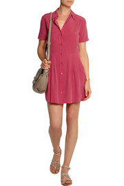 Equipment Naomi washed-silk shirt dress
