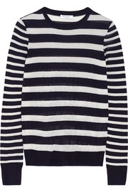 Equipment Shane striped silk sweater