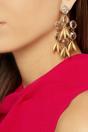 J.Crew Jeweled Quill gold-plated crystal earrings