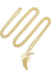 Carolina Bucci 18-karat gold diamond banana necklace