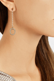 Carolina Bucci 18-karat rose and white gold diamond drop earrings