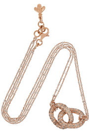 Carolina Bucci 18-karat rose and white gold diamond necklace
