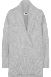 MM6 Maison Martin Margiela Shawl-collar knitted sweater