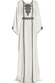 Oscar de la Renta Embroidered silk kaftan