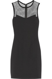 Rag & bone Franklin mesh-paneled scuba-jersey mini dress