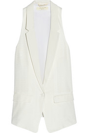 Rag & bone Ines oversized jacquard and crepe de chine vest