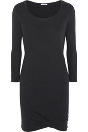 James Perse Slub linen-blend jersey mini dress