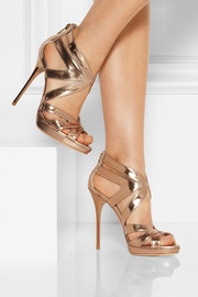 Jimmy Choo Collar mirrored-leather sandals