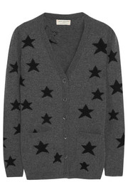 Chinti and Parker Star intarsia wool cardigan