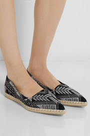 Nicholas Kirkwood Mexican embroidered twill espadrilles