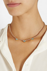 Brooke Gregson 18-karat gold aquamarine necklace