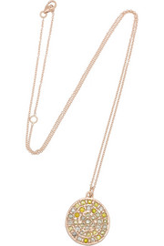 Brooke Gregson 14-karat rose gold diamond necklace