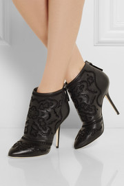 Dolce & Gabbana Embroidered leather ankle boots