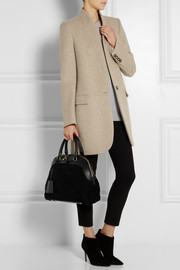 Burberry Prorsum Medium shearling and leather tote