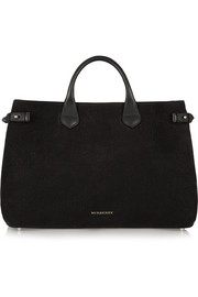 Burberry Shoes & Accessories Nubuck and leather tote