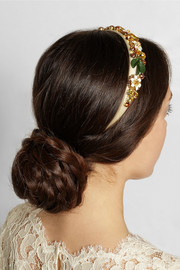 Swarovski crystal-embellished silk headband