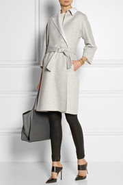 Fendi Two-tone felted-cashmere coat