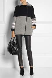 Fendi Shearling, wool and mohair-blend coat