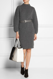 Fendi Chevron-patterned cashmere sweater dress