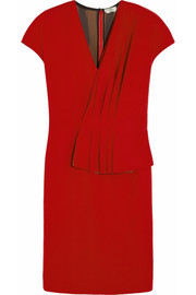 Fendi Pleated wool-felt dress