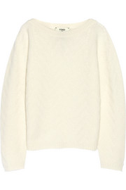 Fendi Chevron-patterned cashmere sweater