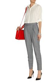 Fendi Cropped wool tapered pants