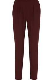 Fendi High-rise crepe tapered pants