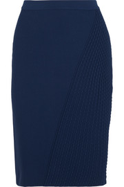 Fendi Textured stretch-knit pencil skirt