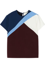 Fendi Color-block stretch-cady top