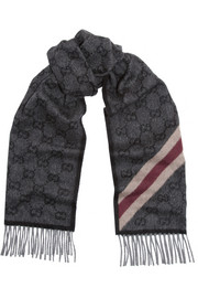 Gucci Nikky wool and angora-blend scarf