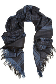 Gucci Oversized wool and silk-blend scarf