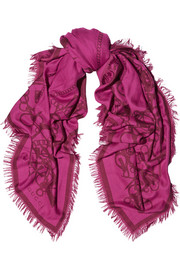 Gucci Tooledge wool and silk-blend jacquard scarf