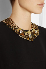 Fendi Gold-tone Swarovski crystal necklace