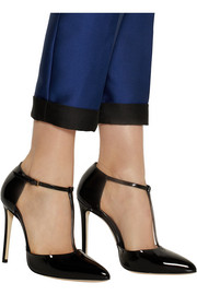 Gucci Patent-leather T-bar pumps