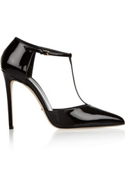 Patent-leather T-bar pumps