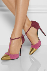 Gucci Color-block suede pumps