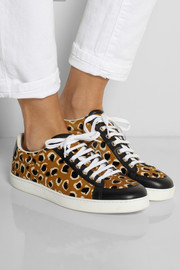 Gucci Leopard-print calf hair sneakers